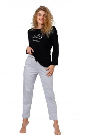 Dámské pyžamo M-max Skarlett 959 dł/r M-2XL černá