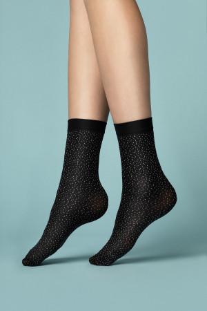 Dámské ponožky Fiore G 1096 Pepe Bianco 40 den černá-bílá univerzální