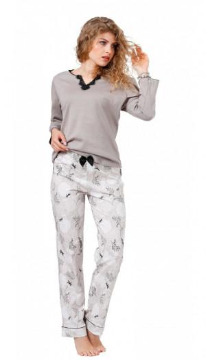 Dámské pyžamo 965 LEWIS světle béžová