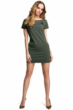 Dámské šaty M374 - Moe tmavě zelená S-36