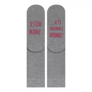 Froté ponožky SOXO se životními instrukcemi - MAMA šedá 35-40