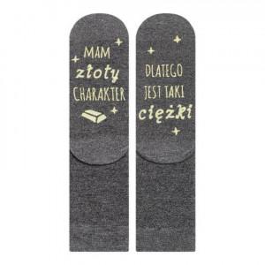 Ponožky SOXO se životními instrukcemi - MAM ZŁOTY... (