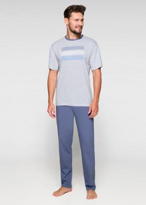 Pánské pyžamo Regina 572 kr/r M-XL tmavá žíhaná