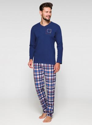 Pánské pyžamo Regina 573 dł/r 2XL bordó