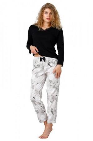 M-Max Liam 964 Dámské pyžamo M černá