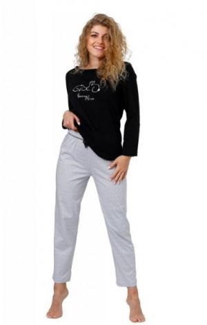 M-max Skarlett 959 Dámské pyžamo M černá