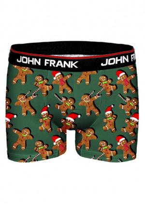 Pánské boxerky John Frank JFBD11 L Zelená