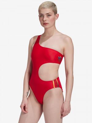 Adicolor 3D Trefoil Jednodílné plavky adidas Originals Červená