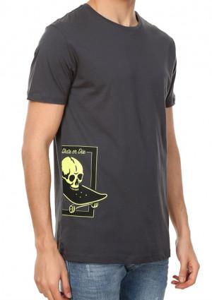 Pánské tričko John Frank JFTLW05 L ocelovka