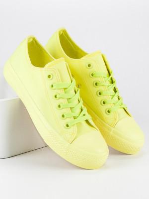 Fantastické žluté semišové tenisky