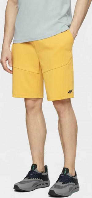 Pánské teplákové kraťasy 4F SKMD210 žluté žlutá
