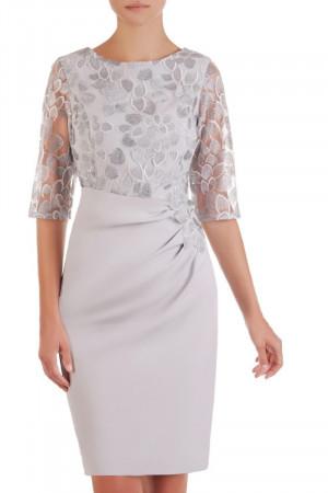 Dámské společenské šaty model 133780 - Jersa světle šedá