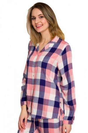 Key LNS 405 B20 1 Dámské pyžamo L lososová-tmavě modrá