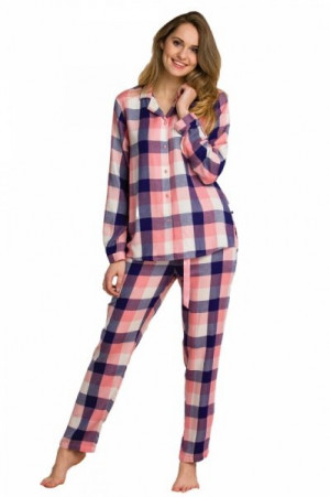 Key LNS 405 B20 1 Dámské pyžamo 2XL XXL lososová-tmavě modrá
