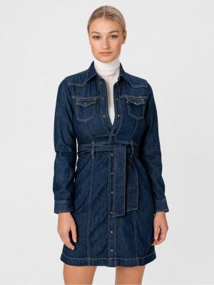 Julie Šaty Pepe Jeans Modrá