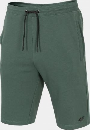 Pánské teplákové kraťasy 4F SKMD300 Zelené Khaki