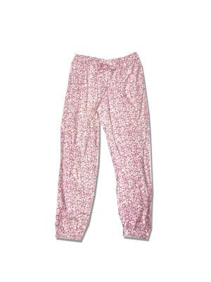 Dámské pyžamové kalhoty - 000QS6027E SWC - Calvin Klein krémová-růžová