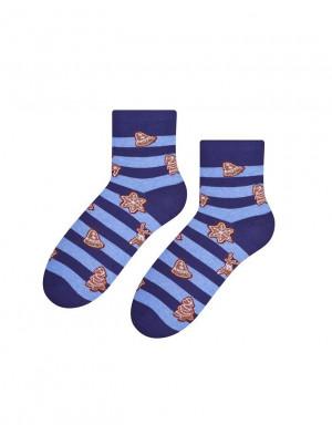 Dámské vánoční ponožky Steven art.099 bordó 35-37