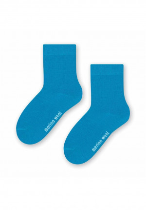 Ponožky Steven art.130 Natural Merino Wool 26-34 černá 29-31