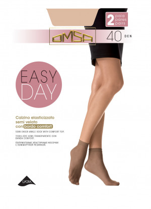Dámské ponožky Omsa Easy Day 40 den A'2 odstín béžové univerzální