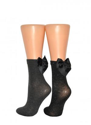 Dámské ponožky Veneziana Fiocco Cotone odstín šedé univerzální