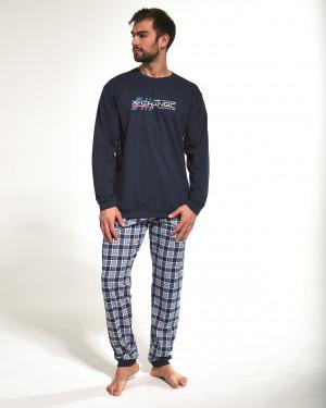Pánské pyžamo Cornette 115/157 dł/r Street Wear S-2XL tmavě modrá