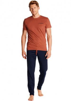 Pánské pyžamo Henderson 38365 XXL Cihlová