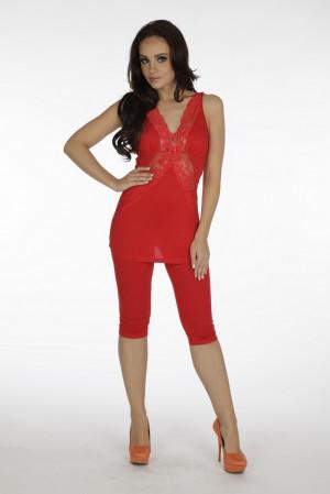 Dámské pyžamo De Lafense 878 Agnes červená