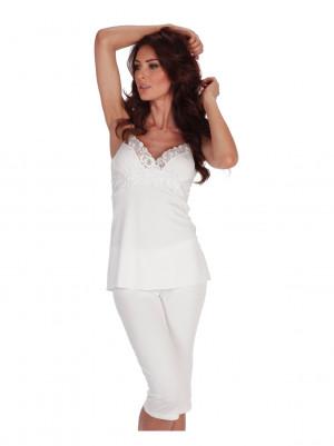 Dámské pyžamo De Lafense 970 Mariette amarant