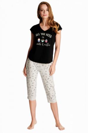 Henderson Ladies 38262 Westley Dámské pyžamo XL black