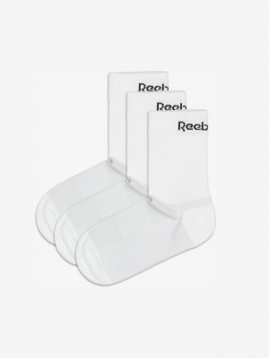 Active Core Mid Crew Ponožky 3 páry Reebok Bílá
