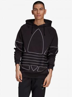 Big Trefoil Outline Mikina adidas Originals Černá