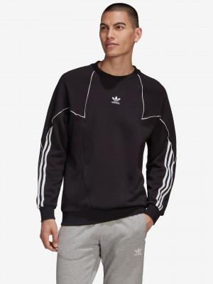 Big Trefoil Abstract Crew Mikina adidas Originals Černá