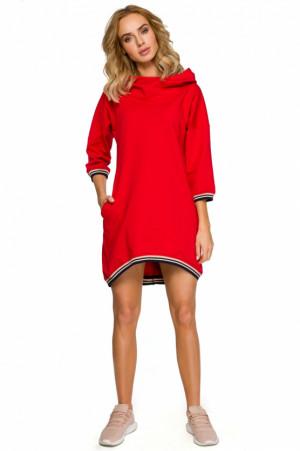 Denní šaty  Moe 401 - MOE červená