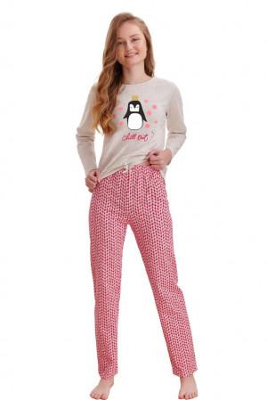 Dívčí pyžamo Maja béžové chill out béžová 146