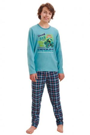 Chlapecké pyžamo Leo cross modré modrá 146