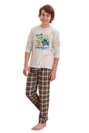 Chlapecké pyžamo Leo cross béžové béžová 146