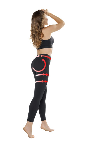 Legíny Push-up Leggings Anti Cellulite - Gwinner černá