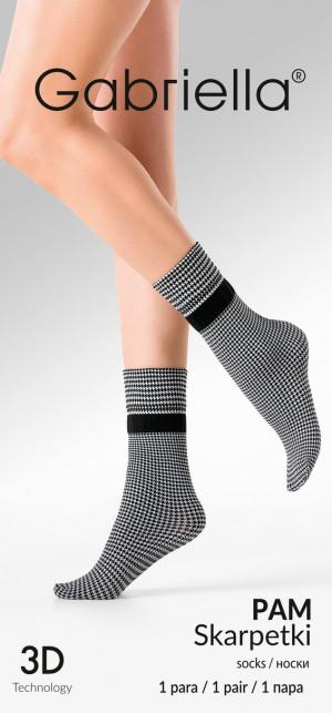 Dámské ponožky PAM černá/kouřová UNI