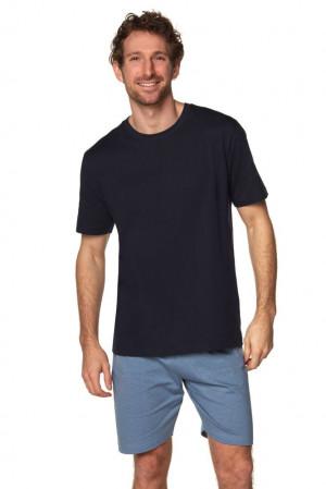 Pánské pyžamo Airon černé se vzorem černá