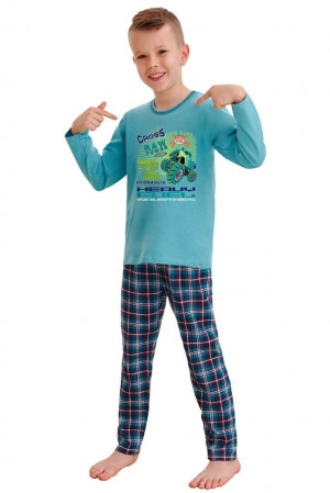 Klučičí pyžamo Leo cross power modré modrá