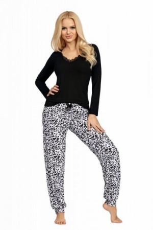 Donna Bonnie Dámské pyžamo XXL černá/vzor