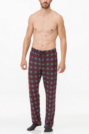 Pánské pyžamové kalhoty 11652 - Vamp šedo-červená