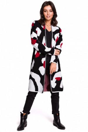 Dámský svetr BK031 - BEwear černo-bílo-červená S/M