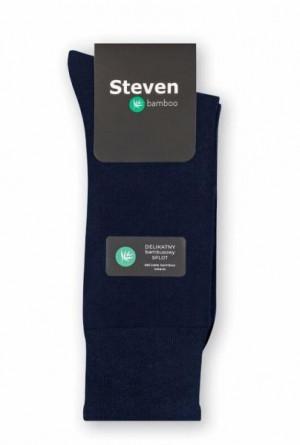 Steven art.031 Bamboo Pánské ponožky 44-46 černá