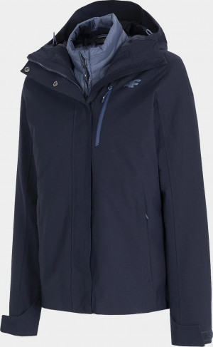 Dámská bunda 3v1 4F KUDT200 Tmavě modrá Modrá