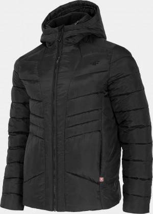 Pánská péřová bunda 4F KUMP202 Černá Černá