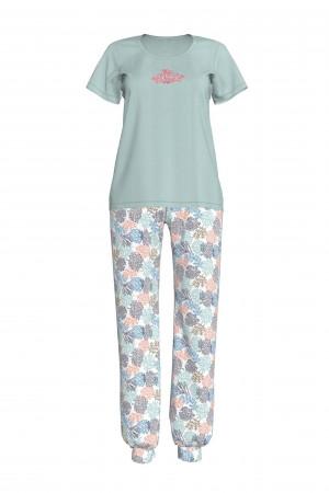 Dámské pyžamo 12919-492 zelená - Vamp zelená