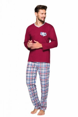 Regina 569 Pánské pyžamo plus size XXL bordová