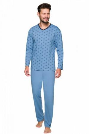 Regina 570 Pánské pyžamo plus size XXL tmavě modrá